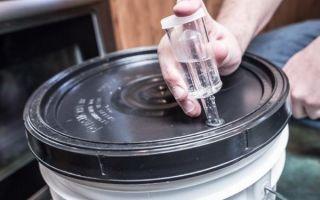 Как сделать гидрозатвор для брожения своими руками — 5 способов
