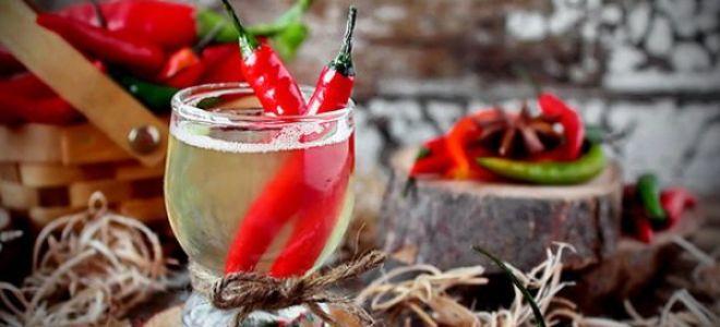 Лечение простуды водкой с перцем