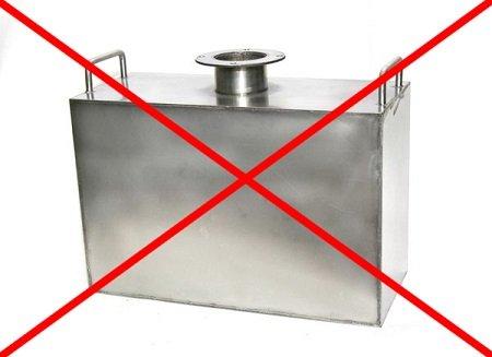 не используйте стальной перегонный куб