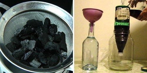 активированный уголь против запаха самогона
