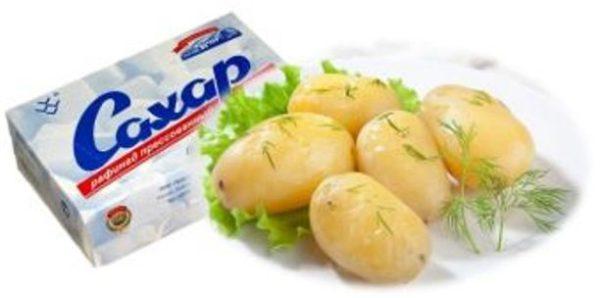 картофель и сахар