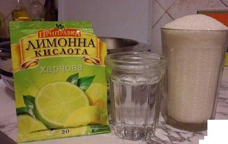 лимонная кислота и сахар для очистки самогона