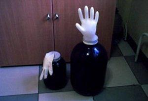 при брожение упала перчатка