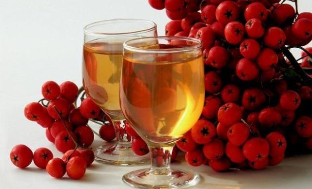 Приготовление вина из красной рябины